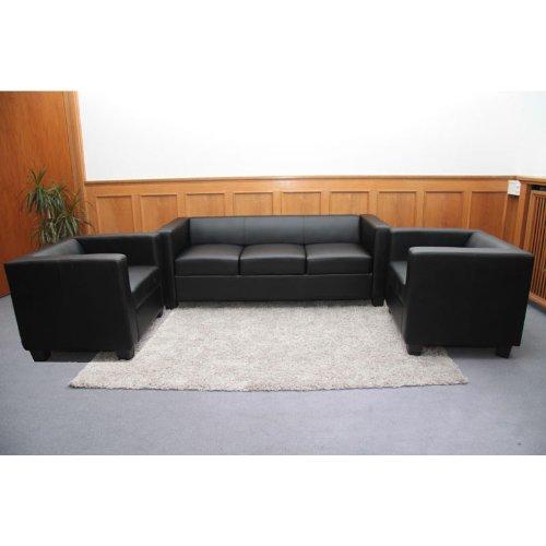 3 1 1 sofagarnitur couchgarnitur loungesofa lille leder. Black Bedroom Furniture Sets. Home Design Ideas