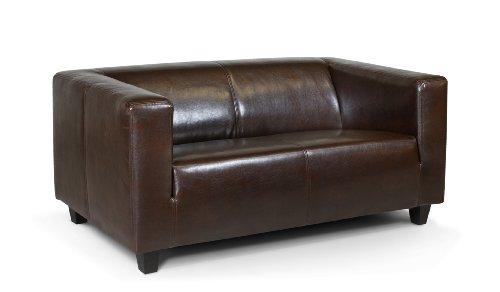 b famous 2 sitzer sofa kuba 149 x 88 cm glanzleder braun. Black Bedroom Furniture Sets. Home Design Ideas