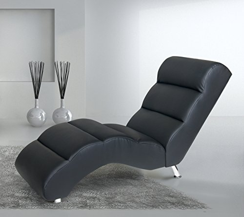 b famous relaxliege moon 165 x 66 cm kunstleder schwarz. Black Bedroom Furniture Sets. Home Design Ideas