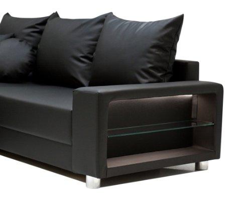 b famous wohnlandschaft colorado led federkern. Black Bedroom Furniture Sets. Home Design Ideas