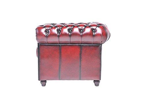 chesterfield showroom original chesterfield sessel 1 sitzer echtes leder handgewischt. Black Bedroom Furniture Sets. Home Design Ideas