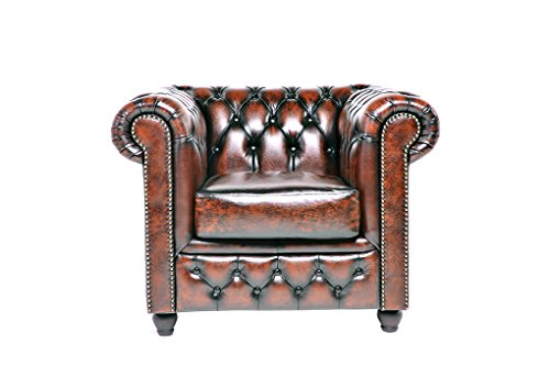 chesterfield showroom original chesterfield sessel 1 sitzer echtes leder handgewischt. Black Bedroom Furniture Sets. Home Design Ideas
