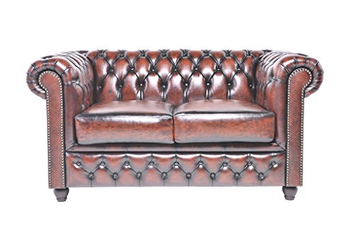 chesterfield showroom original chesterfield sofa couch 2 sitzer echtes leder. Black Bedroom Furniture Sets. Home Design Ideas