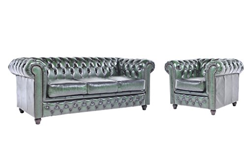 Chesterfield Showroom Original Chesterfield Sofa Couch 1 3