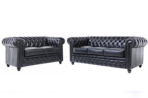 chesterfield showroom original chesterfield sofa couch 2 3 sitzer echtes leder. Black Bedroom Furniture Sets. Home Design Ideas