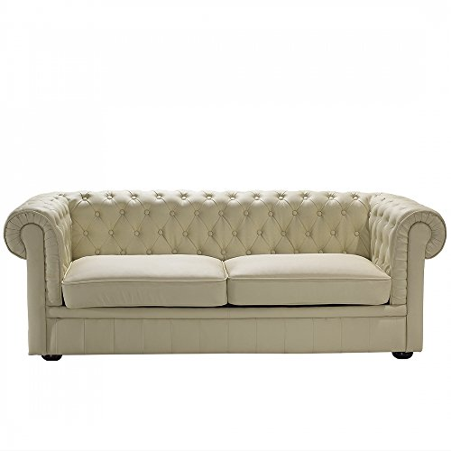 chesterfield sofa beige ledersofa ledercouch. Black Bedroom Furniture Sets. Home Design Ideas
