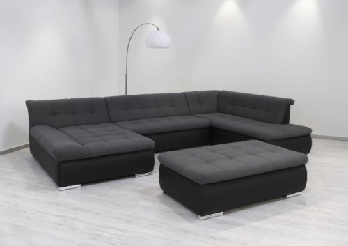 dreams4home polsterecke aulis sofa wohnlandschaft ecksofa couch xxl schlaffunktion anthrazit. Black Bedroom Furniture Sets. Home Design Ideas