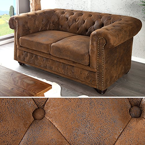 edles chesterfield sofa 2 sitzer im antik look. Black Bedroom Furniture Sets. Home Design Ideas