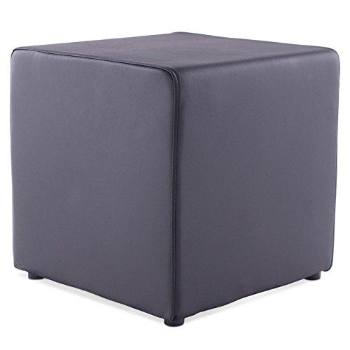 hocker quadratisch caille simi leder schwarz. Black Bedroom Furniture Sets. Home Design Ideas