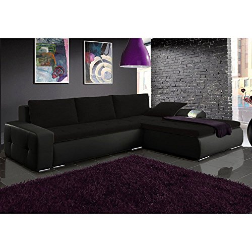 justhome picanto mini ecksofa stoffbezug kunstleder ecoleder bxlxh 263x173x85 cm 1114. Black Bedroom Furniture Sets. Home Design Ideas