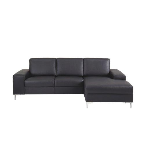 kopenhagen sofa mit longchair rechts leder schwarz. Black Bedroom Furniture Sets. Home Design Ideas