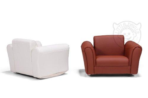 lazybones cremefarbener leder schaukelstuhl kinder sessel mit kostenlosem fu hocker echt leder. Black Bedroom Furniture Sets. Home Design Ideas