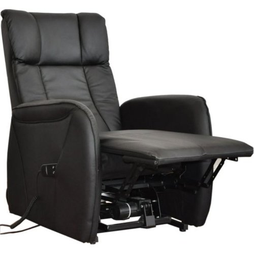 ledersessel mit aufstehhilfe leipzig 2 motoren bezug aus schwarzem echtem leder. Black Bedroom Furniture Sets. Home Design Ideas