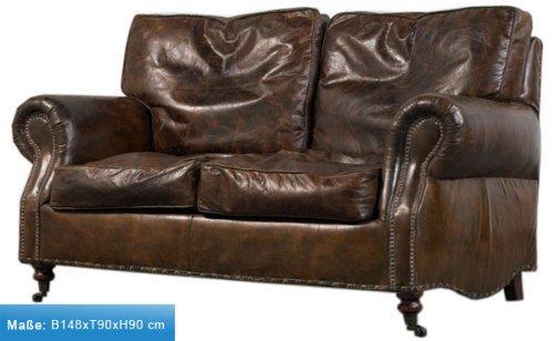loungesofa wales 2 sitzer vintage leder. Black Bedroom Furniture Sets. Home Design Ideas