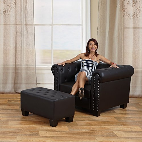 luxus 2er sofa loungesofa couch chesterfield kunstleder. Black Bedroom Furniture Sets. Home Design Ideas