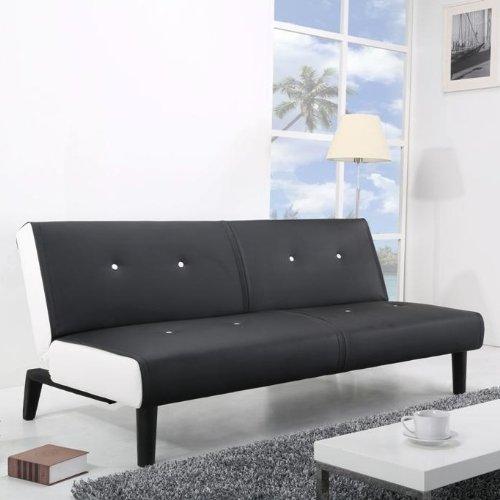Neg design schlafsofa helios schwarz wei mit napalon for Schlafsofa bequem