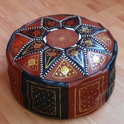 orientalisches sitzkissen pouf bodenkissen hocker leder kissen 60 cm ohne f llung. Black Bedroom Furniture Sets. Home Design Ideas