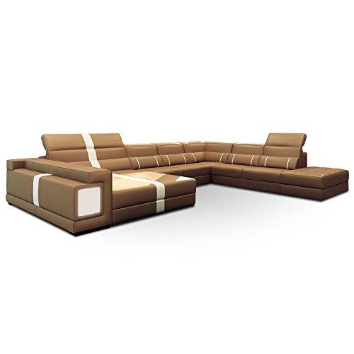 polsterecke maranello mit beleuchtung und hocker farbwahl wohnlandschaft polsterecke. Black Bedroom Furniture Sets. Home Design Ideas