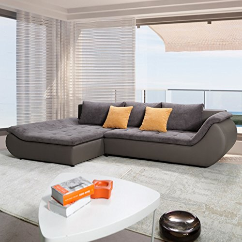 polsterecke sofa mit schlaffunktion prato schlafsofa schlafcouch kunstleder webstoff. Black Bedroom Furniture Sets. Home Design Ideas