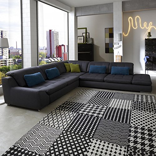 polsterecke wohnlandschaft sofa spike mit schlaffunktion und bettkasten ecksofa kunstleder. Black Bedroom Furniture Sets. Home Design Ideas