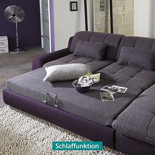ecksofa mit schlaffunktion und verstellbarer r ckenlehne inspirierendes design. Black Bedroom Furniture Sets. Home Design Ideas