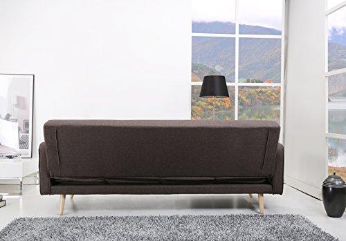 Schlafsofa Oslo Stoff Fuscous Braun Sofa Couch Wohnlandschaft
