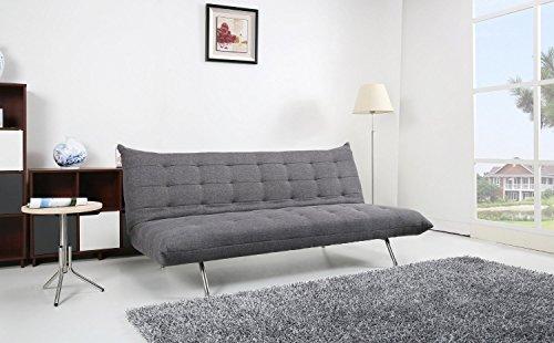 Ledersofa dunkelgrau  Schlafsofa Pedro Schlafcouch Stoff dunkelgrau Schlaffunktion Sofa ...