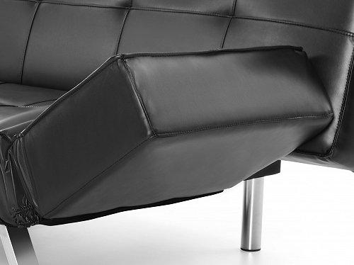 schlafsofa schlafcouch schwarz bettsofa bettcouch. Black Bedroom Furniture Sets. Home Design Ideas