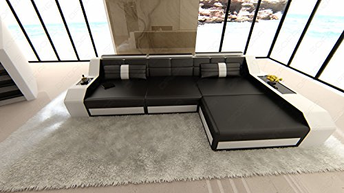 sofa arezzo l form schwarz weiss. Black Bedroom Furniture Sets. Home Design Ideas