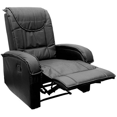 tv sessel aus echtem leder fernsehsessel relaxsessel mit ausklappbarer fu st tze bequeme. Black Bedroom Furniture Sets. Home Design Ideas
