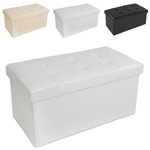 Sitzhocker Mit Stauraum tectake 80x40x40 cm faltbarer sitzhocker aufbewahrungsbox sitzwürfel