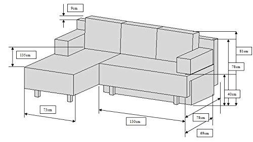 vcm 900067 ecksofa critona couch mit schlaffunktion rot. Black Bedroom Furniture Sets. Home Design Ideas