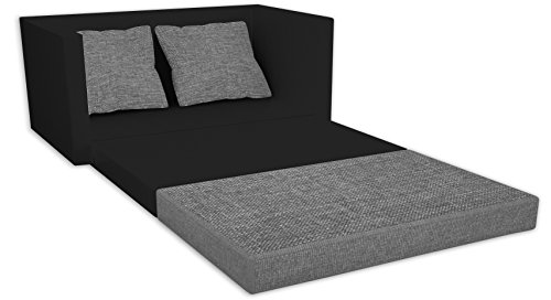 vcm 911662 2 er couch sinsa kunstleder sofa mit schlaffunktion schwarz. Black Bedroom Furniture Sets. Home Design Ideas