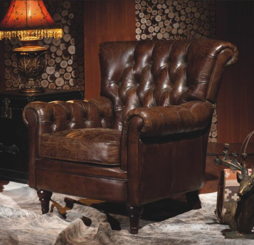 vintage echtleder chesterfield ledersessel design lounge. Black Bedroom Furniture Sets. Home Design Ideas