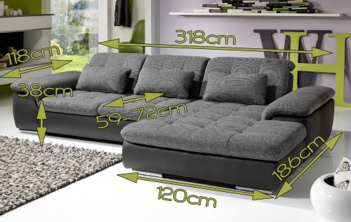 ecksofa leder verstellbare r ckenlehne inspirierendes design f r wohnm bel. Black Bedroom Furniture Sets. Home Design Ideas