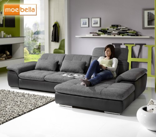ecksofa leder sitztiefenverstellung inspirierendes design f r wohnm bel. Black Bedroom Furniture Sets. Home Design Ideas