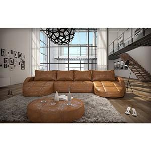 Couchgarnitur for Xxl wohnlandschaft u form leder